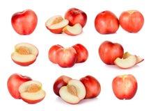 Frutta della nettarina isolata sul bianco Immagine Stock Libera da Diritti