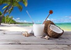 Frutta della noce di cocco del cocktail della bevanda Immagine Stock