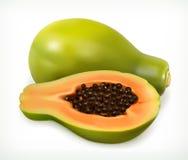 Frutta della papaia Innesta l'icona Fotografia Stock