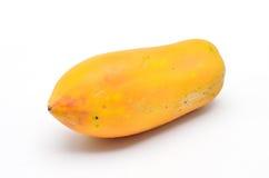 Frutta della papaia isolata Fotografie Stock Libere da Diritti