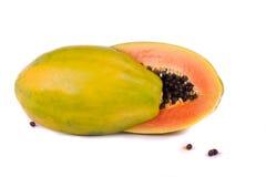 Frutta della papaia su bianco fotografia stock