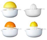 Frutta della preparazione del succo di arancia Immagini Stock