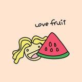 Frutta 2 di amore Immagine Stock