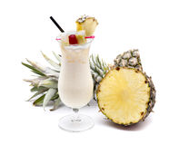 Frutta di colada di Piña Immagini Stock