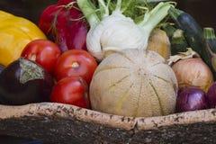 Frutta di estate nel canestro Fotografia Stock