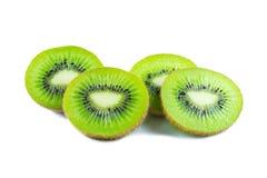 Frutta di Kiwi isolata su bianco Fotografia Stock Libera da Diritti