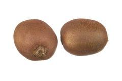 Frutta di Kiwi isolata su bianco Fotografie Stock