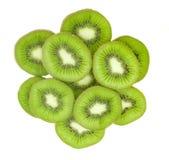 Frutta di Kiwi isolata su bianco fotografie stock libere da diritti