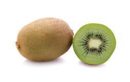 Frutta di Kiwi isolata su priorità bassa bianca Fotografia Stock Libera da Diritti
