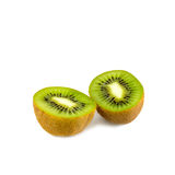 Frutta di Kiwi isolata su priorità bassa bianca Immagine Stock Libera da Diritti