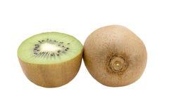 Frutta di Kiwi isolata su priorità bassa bianca Fotografie Stock