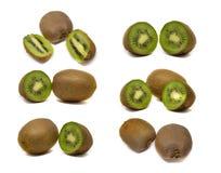 Frutta di Kiwi isolata su priorità bassa bianca Fotografie Stock Libere da Diritti