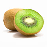 Frutta di Kiwi su priorità bassa bianca Fotografia Stock Libera da Diritti