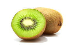 Frutta di Kiwi su priorità bassa bianca Fotografie Stock Libere da Diritti
