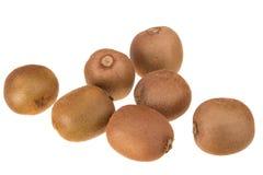 Frutta di Kiwi su una priorità bassa bianca Fotografia Stock Libera da Diritti