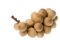 Frutta di Langsat isolata fotografia stock