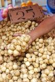 Frutta di Lansones nel servizio Fotografie Stock Libere da Diritti