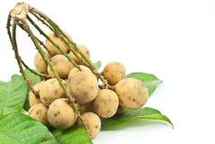 Frutta di Longkong isolata sul bianco. Fotografie Stock Libere da Diritti