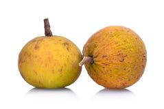 Frutta di Santol isolata su bianco fotografie stock libere da diritti