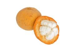 Frutta di Santol isolata su fondo bianco Fotografia Stock Libera da Diritti