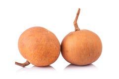 Frutta di Santol isolata su fondo bianco immagine stock libera da diritti