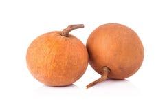 Frutta di Santol isolata su fondo bianco fotografie stock libere da diritti