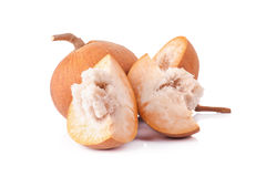 Frutta di Santol isolata su fondo bianco immagini stock libere da diritti