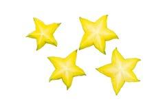 Frutta di stella o fetta della carambola Immagini Stock Libere da Diritti