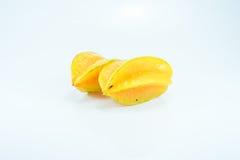 Frutta di stella su fondo bianco Fotografia Stock