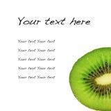 Frutta di un kiwi per il menu e la ricetta immagine stock