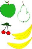 Frutta disegnata a mano Fotografia Stock