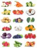 Frutta e bacche dei pomodori delle arance delle mele della raccolta delle verdure Immagini Stock