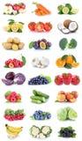 Frutta e banane dei pomodori delle arance delle mele della raccolta delle verdure Fotografia Stock Libera da Diritti