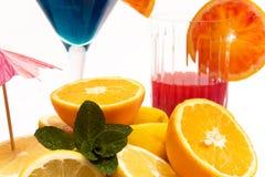 Frutta e cocktail fotografia stock