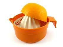 Frutta e colander arancioni Fotografia Stock Libera da Diritti