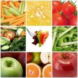 Frutta e collage delle verdure Fotografie Stock