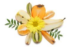 Frutta e composizione nel fiore Fotografie Stock Libere da Diritti