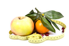 Frutta e dieta Immagine Stock Libera da Diritti