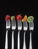 Frutta e forcelle Fotografie Stock Libere da Diritti