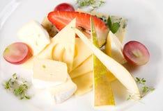 Frutta e formaggio Immagine Stock