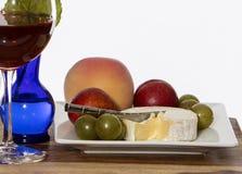 Frutta e formaggio fotografie stock