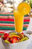 Frutta e Juice Breakfast Fotografie Stock