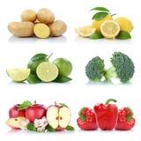 Frutta e limone c delle patate della mela della raccolta delle verdure Immagini Stock