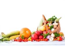 Frutta e mucchio delle verdure Fotografia Stock Libera da Diritti