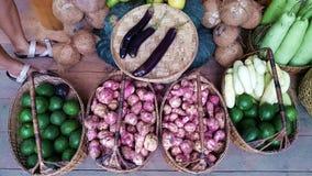 Frutta e nativo del canestro delle verdure Fotografia Stock Libera da Diritti