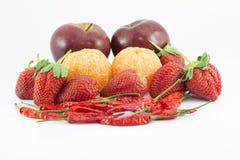 Frutta e peperoni Fotografia Stock