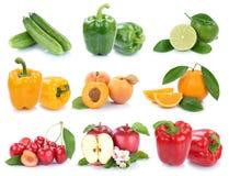 Frutta e pepp arancio della campana della mela della raccolta delle verdure Immagini Stock