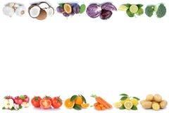 Frutta e poliziotto di verdure dell'alimento dei pomodori delle arance delle mele delle verdure Fotografia Stock