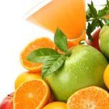 Frutta e spremuta mature Immagini Stock