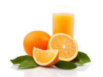 Frutta e succo arancio Fotografia Stock Libera da Diritti
